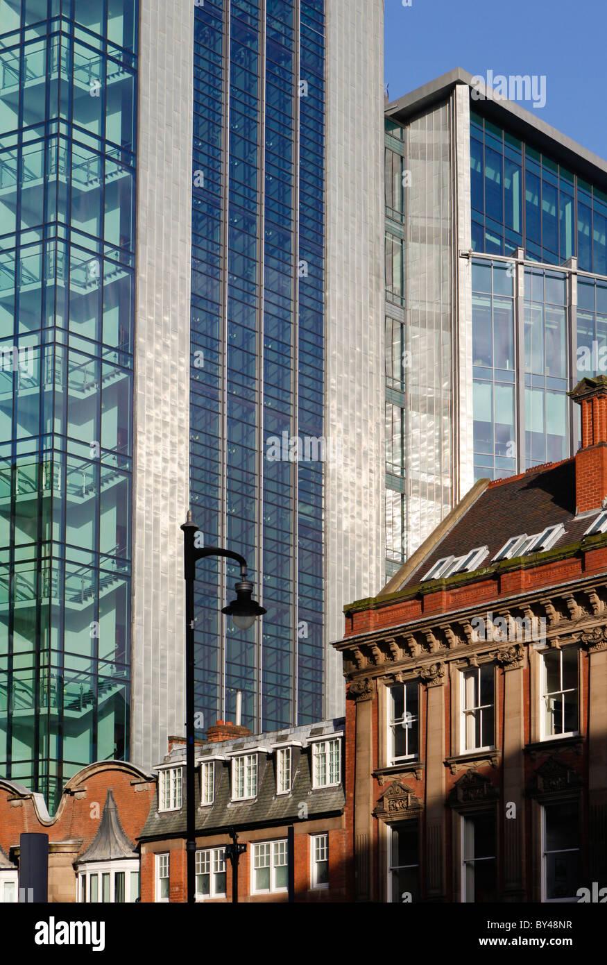 Offices of 45 Church Street, Financial Quarter, Birmingham, West Midlands, England, UK - Stock Image