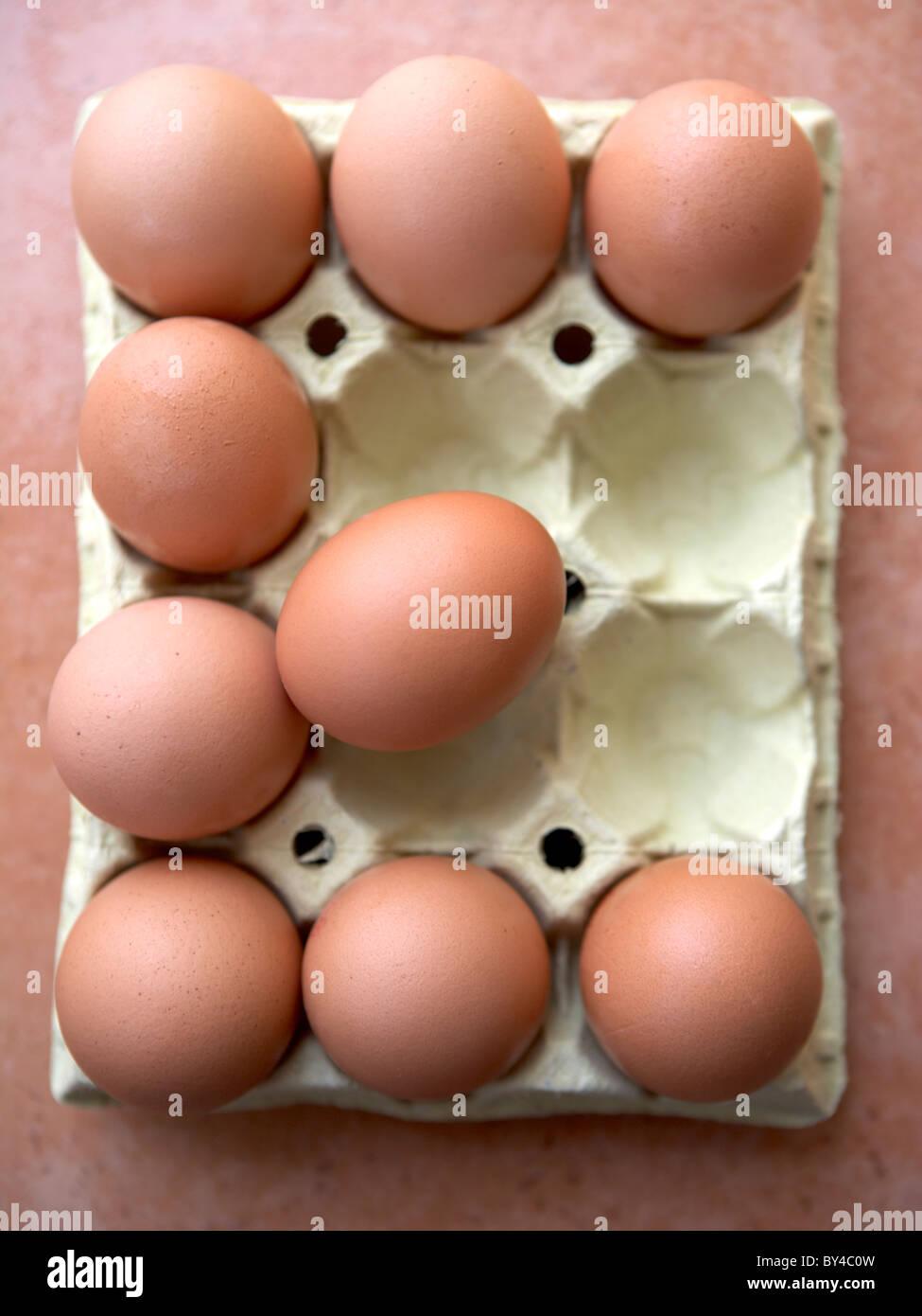 E for Eggs Stock Photo