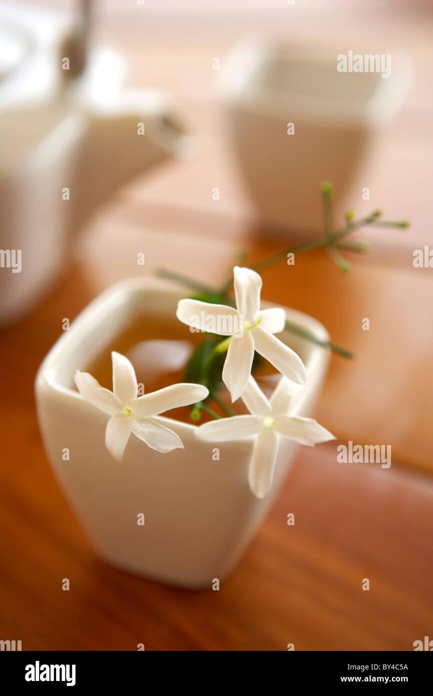 Jasmine Tea - Stock Image