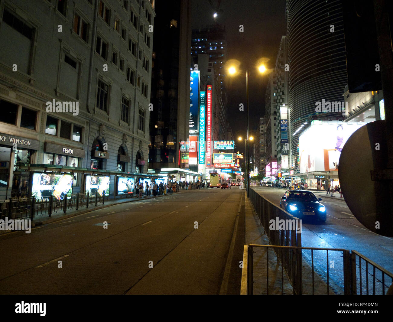 Road at night, Hong Kong - Stock Image