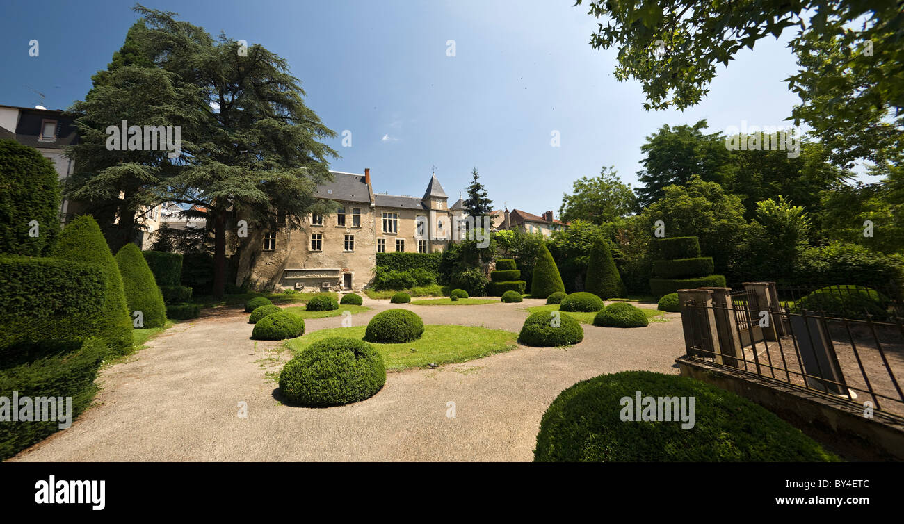 In Vichy, the 'Castel Franc' and its formal Park (France). Municipal house and public garden. - Stock Image