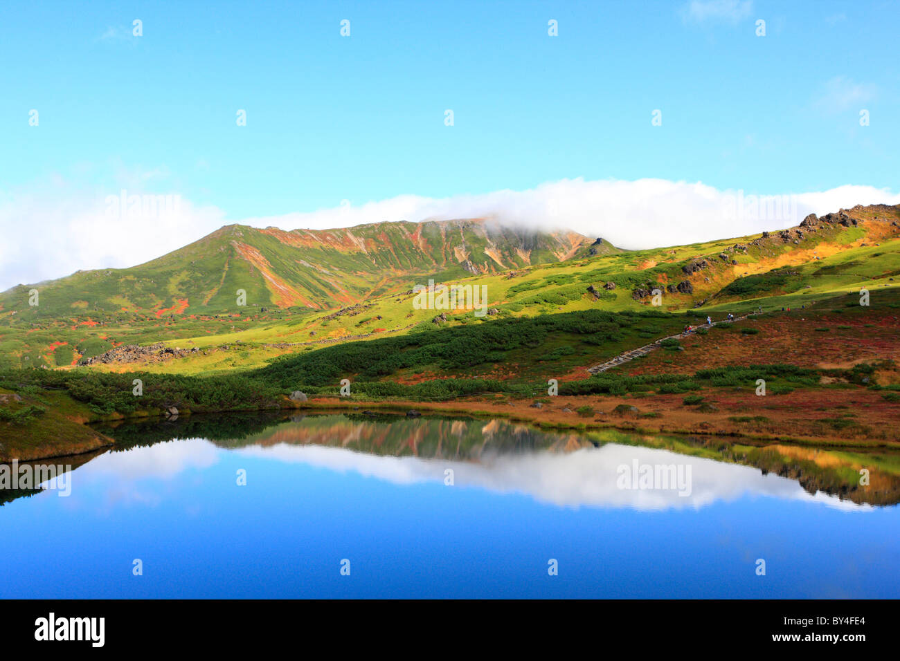 Pond in Mountains Stock Photo