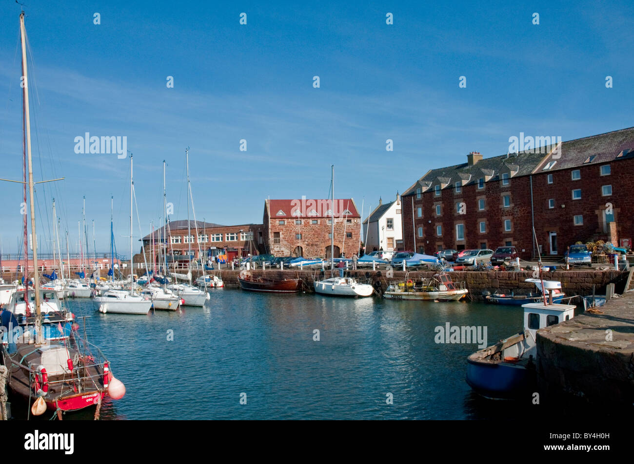 Boats & yachts North Berwick Harbour East Lothian Scotland - Stock Image