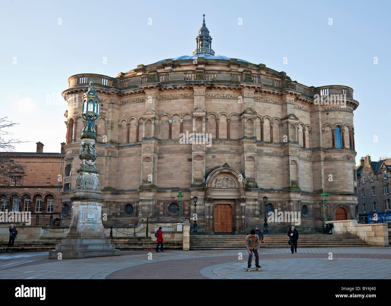 McEwan Hall, graduation venue of Edinburgh University, by Sir Rowland Anderson in 1874 funded by brewer Sir William - Stock Image