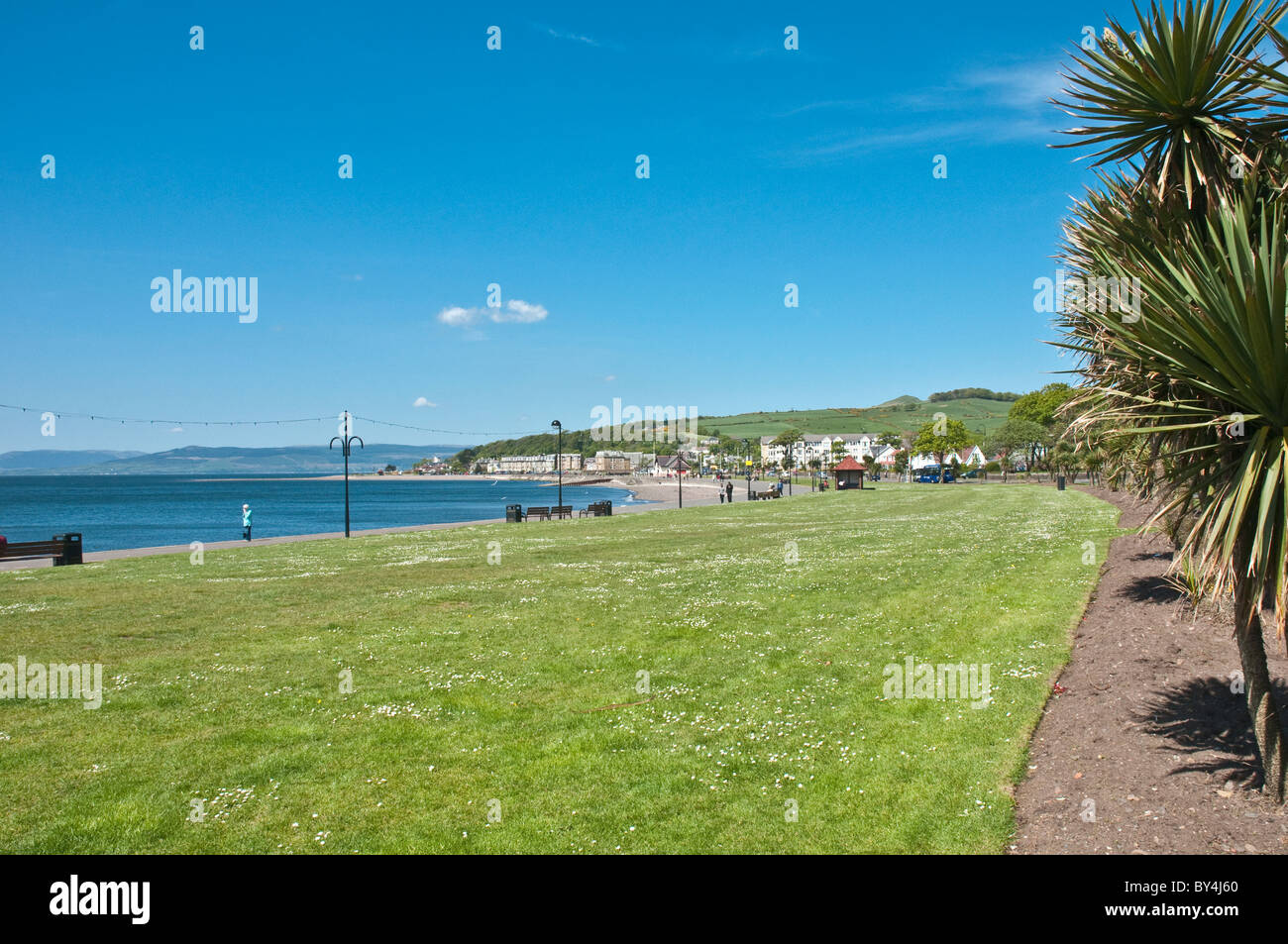 Promenade Largs North Ayrshire Scotland - Stock Image