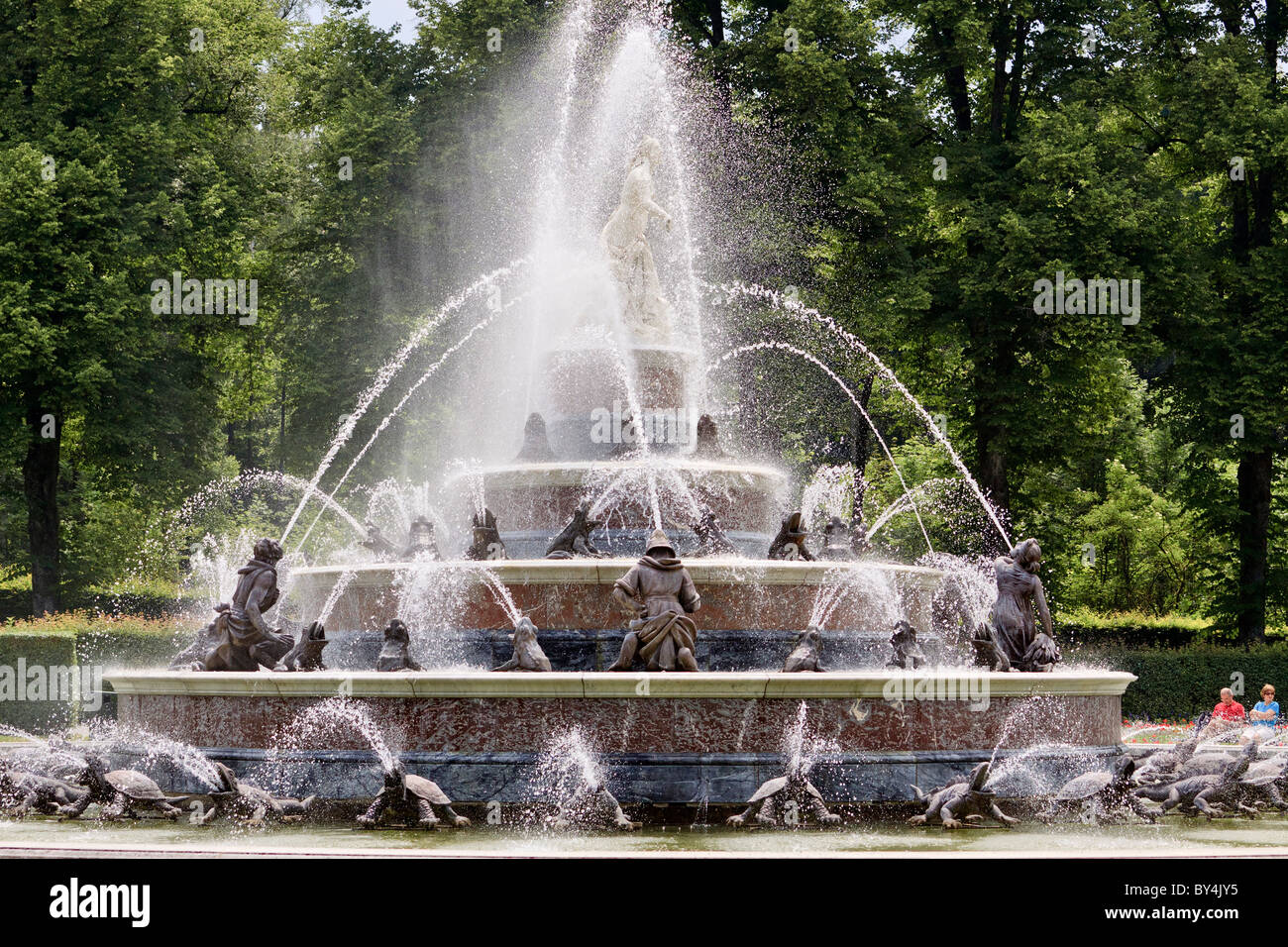 Austria Herrenchiemsee Garden - Stock Image
