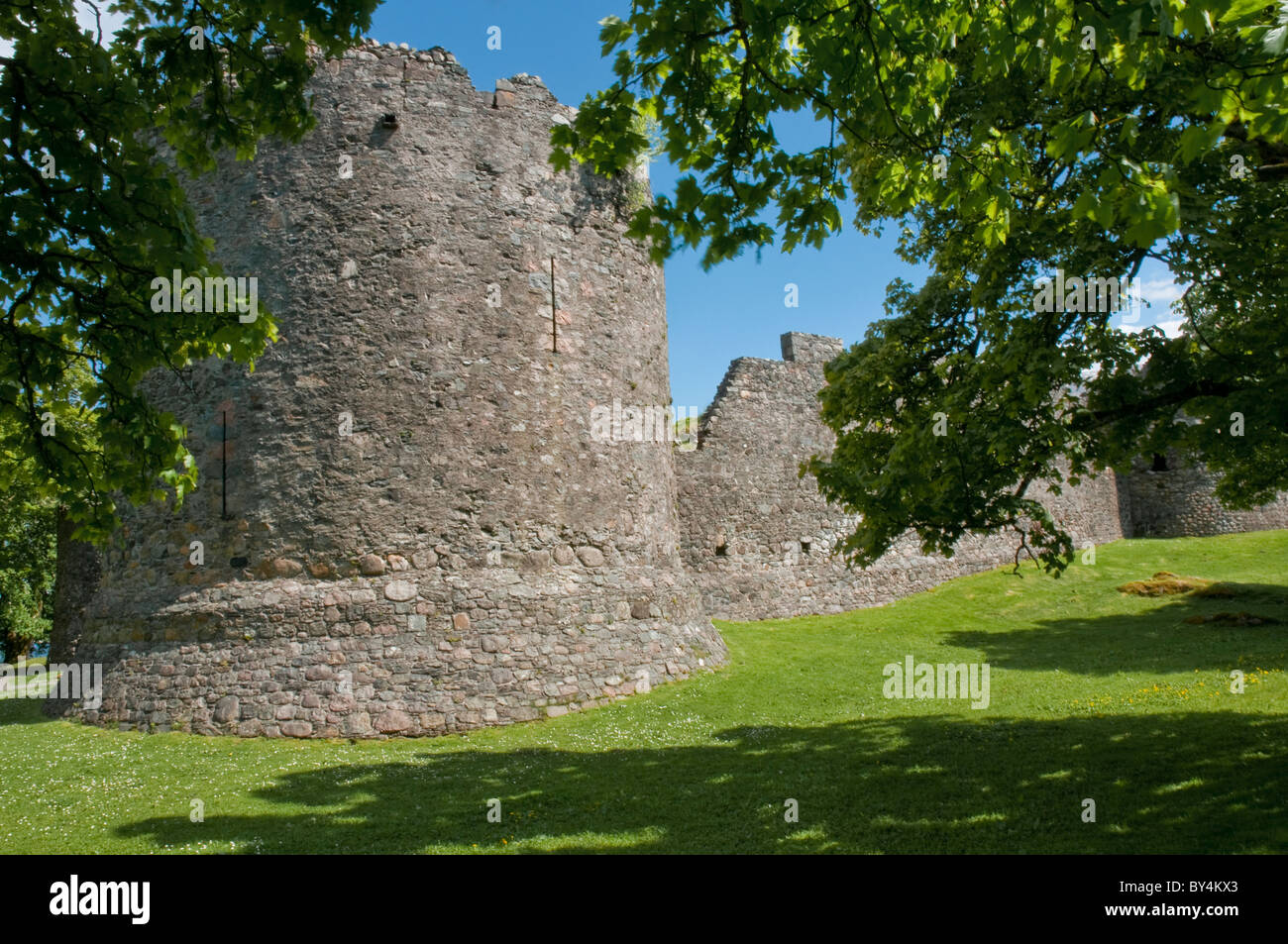 Old Inverlochy Castle Fort William Highland Scotland Stock Photo