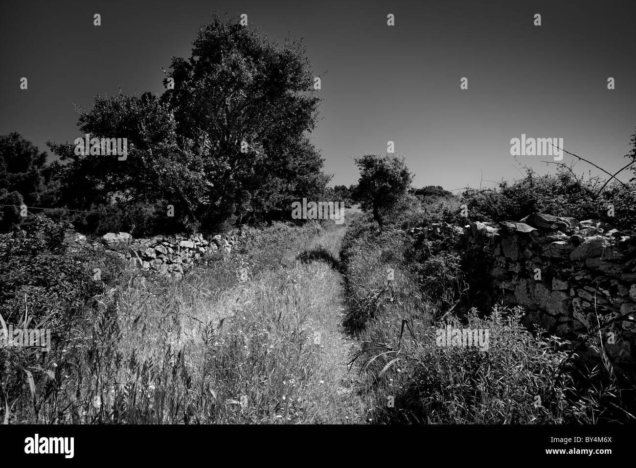 Walking trail, Sardinia, Italy - Stock Image