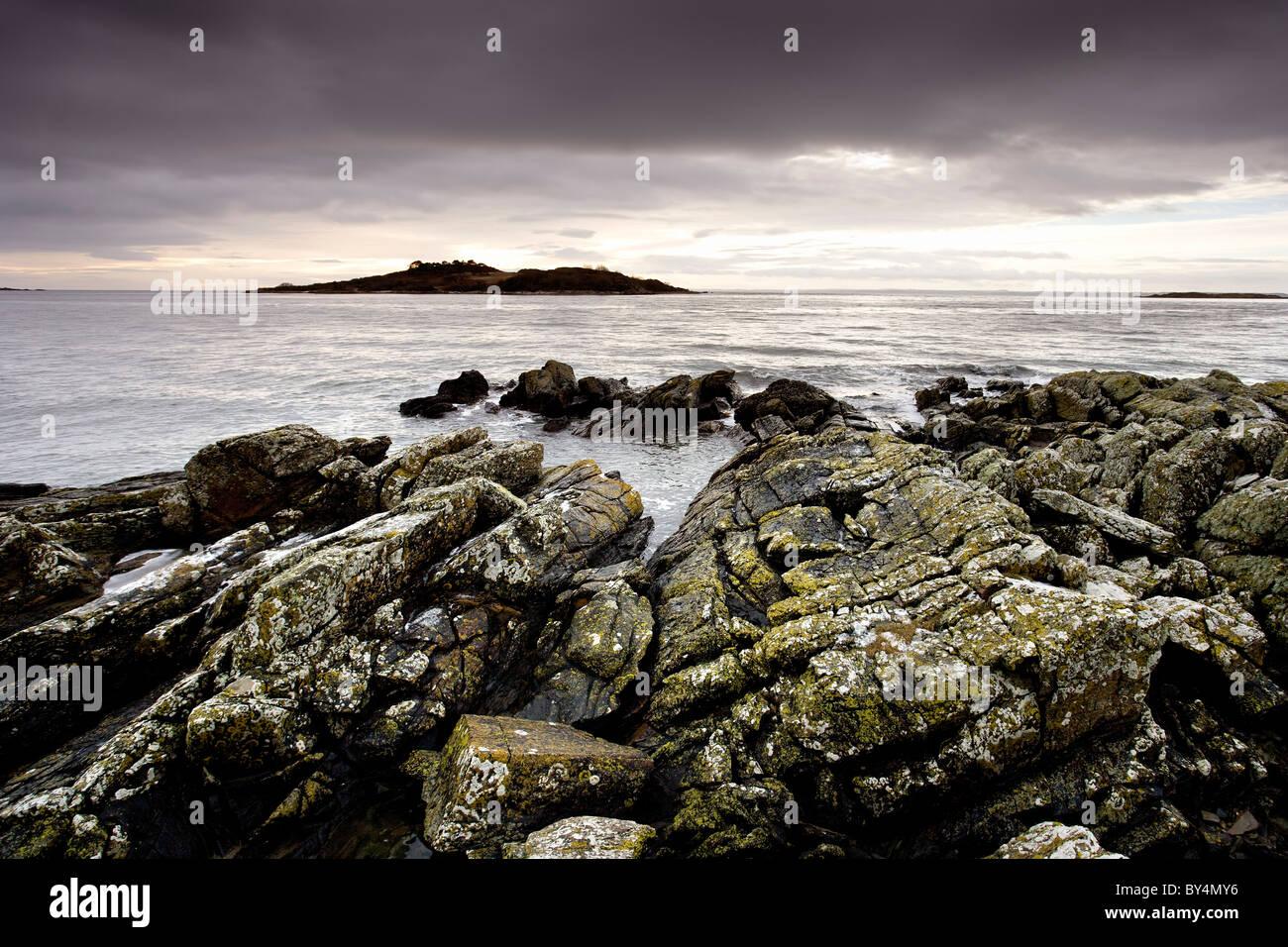 Ardwall Island, Carrick Shore, Dumfries and Galloway, Scotland - Stock Image