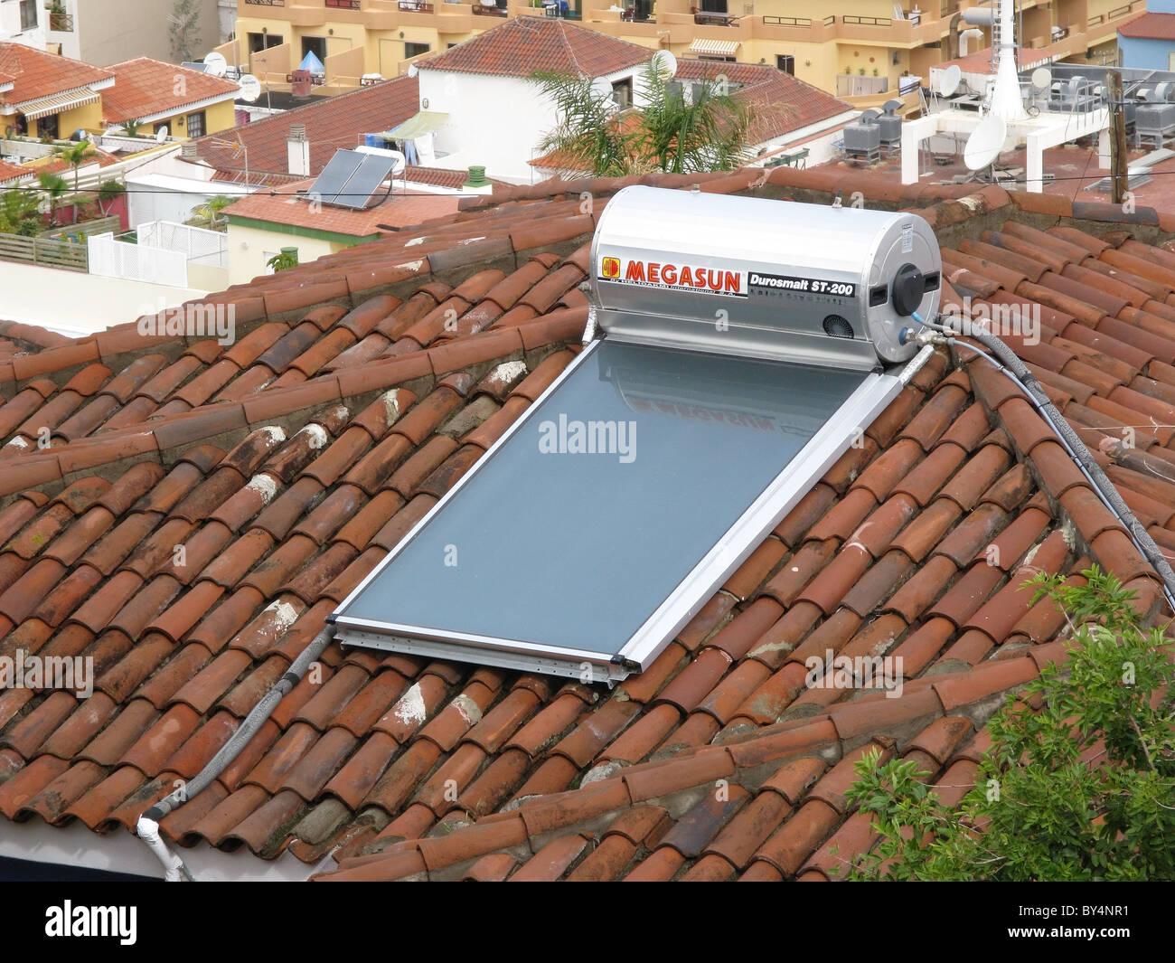 Megasun Durosmalt St 200 Solar Water Heater On A Roof