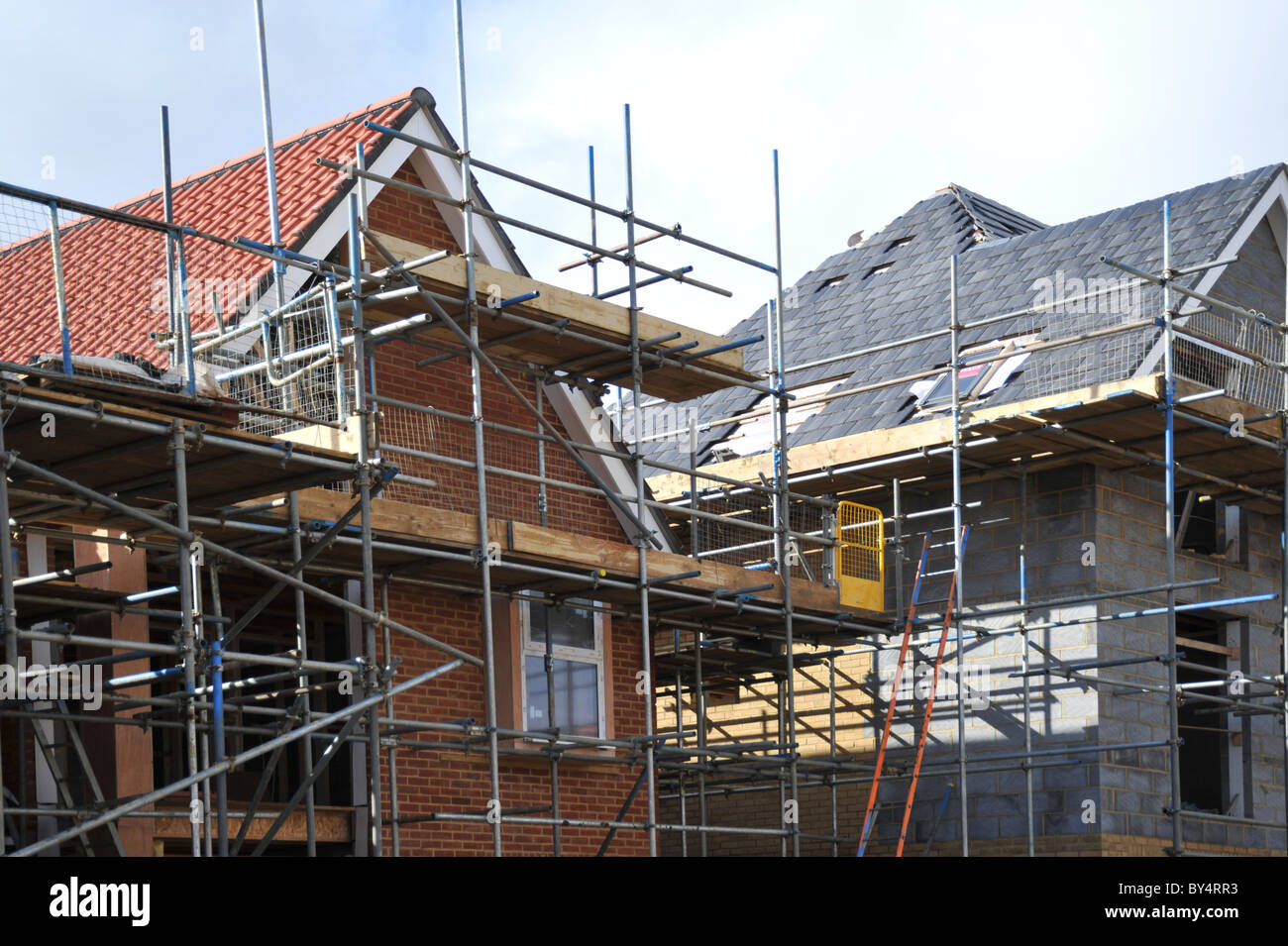 New build house construction - Stock Image