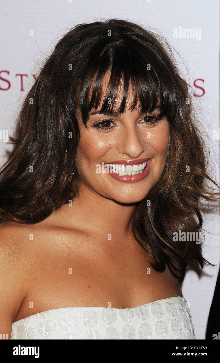 LEA  MICHELE SARFATI  US actress and singer in December 2010. Photo Jeffrey Mayer - Stock Image