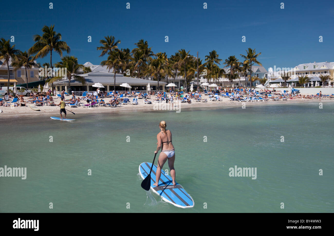 South Beach (Southernmost Beach), Key West, Florida - Stock Image