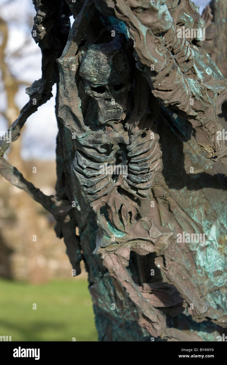 Detail from the National Famine Monument, County Mayo, Ireland - Stock Image