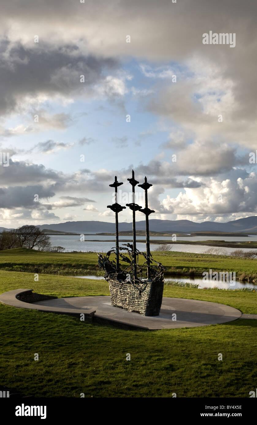 National Famine Monument, County Mayo, Ireland - Stock Image