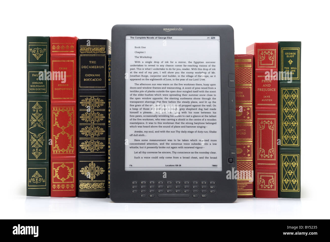 eBook Reader, Amazon Kindle DX 9.7' Latest generation - Stock Image