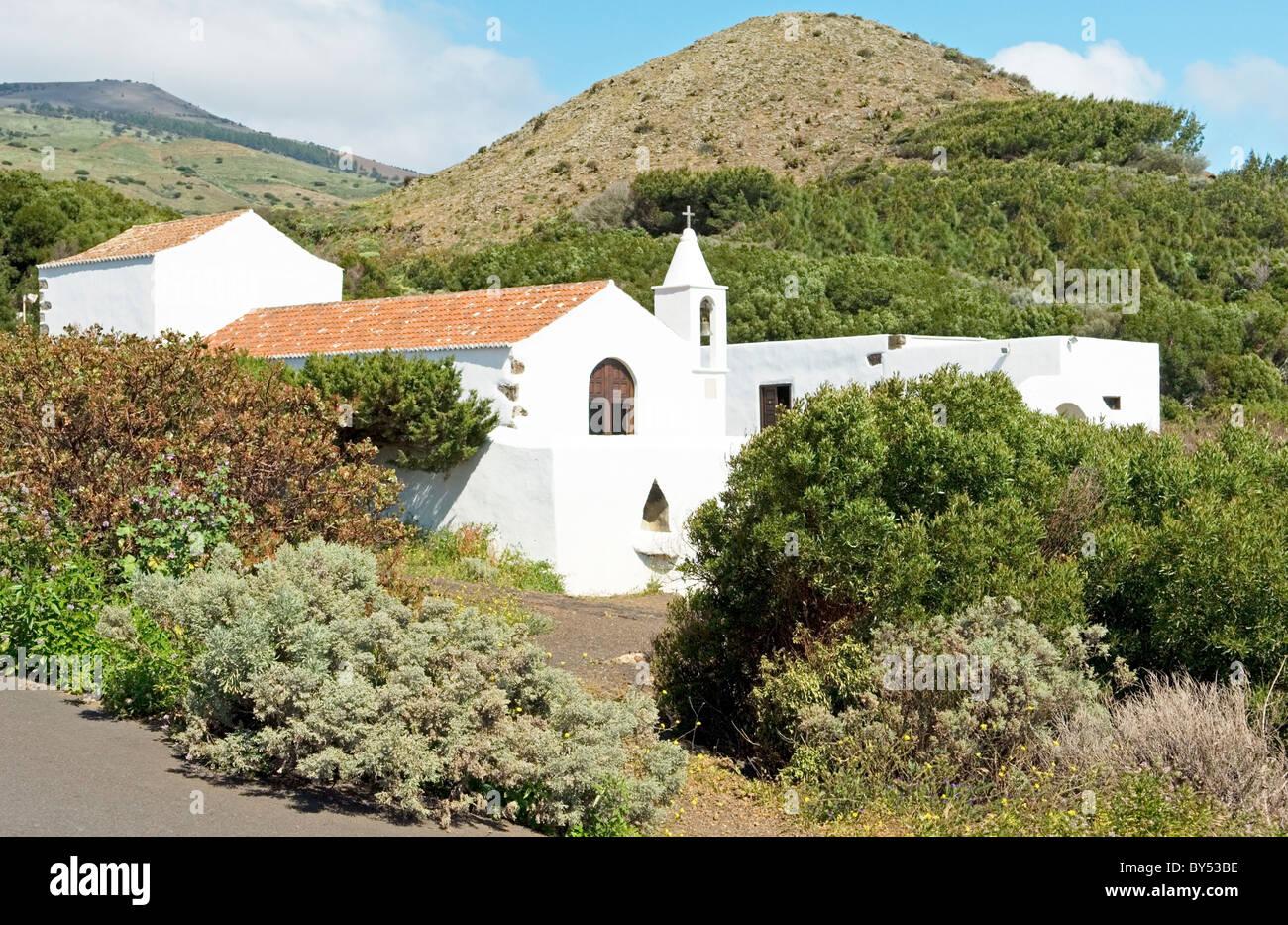 El Hierro, Canary Islands, Spain. Santuario de Nuestra Senora de Los Reyes at the island's west end - Stock Image
