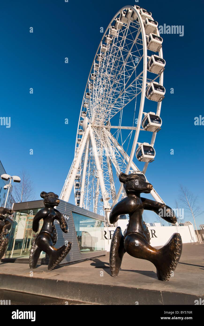 The Dublin Wheel at the Point Village, Dublin, Ireland. - Stock Image