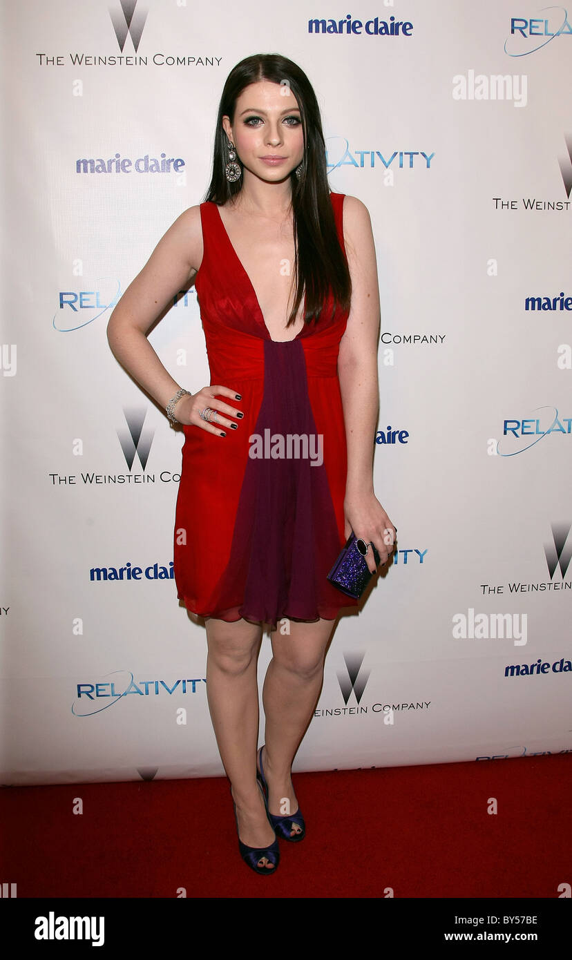 MICHELLE TRACHTENBERG RELATIVITY MEDIA AND THE WEINSTEIN COMPANY 2011 GOLDEN GLOBES AFTER PARTY BEVERLY HILLS LOS - Stock Image