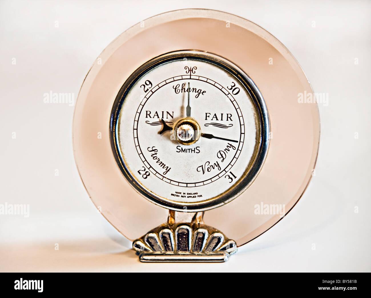 Barometer vintage old weather measurement pressure - Stock Image