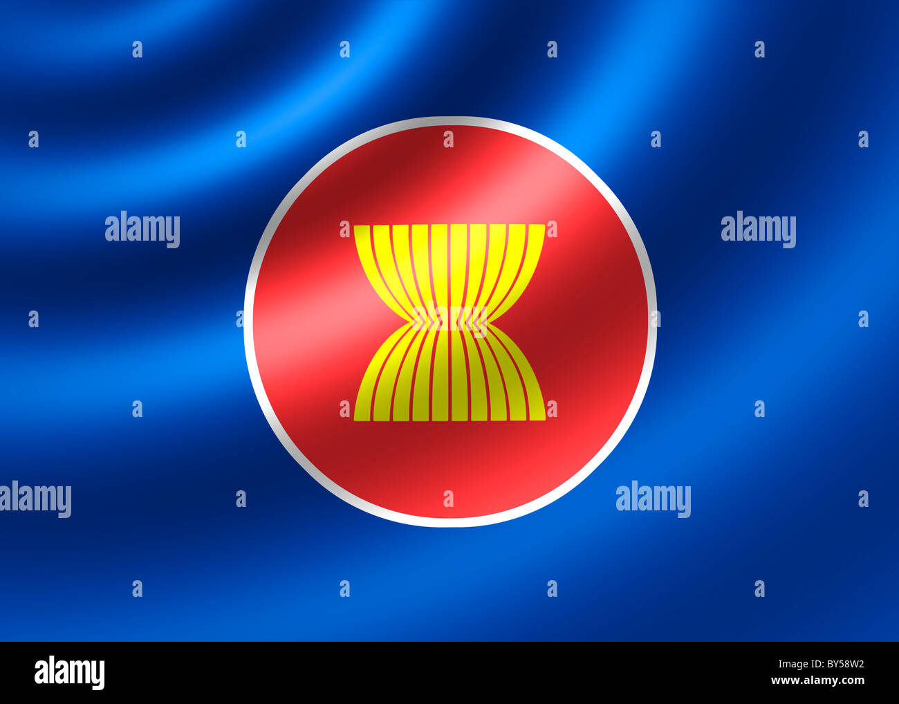 ASEAN Association of Southeast Asian Nations flag - Stock Image
