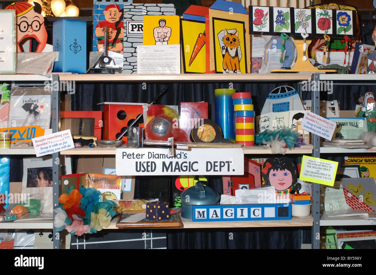 Magic tricks shop and props - Stock Image