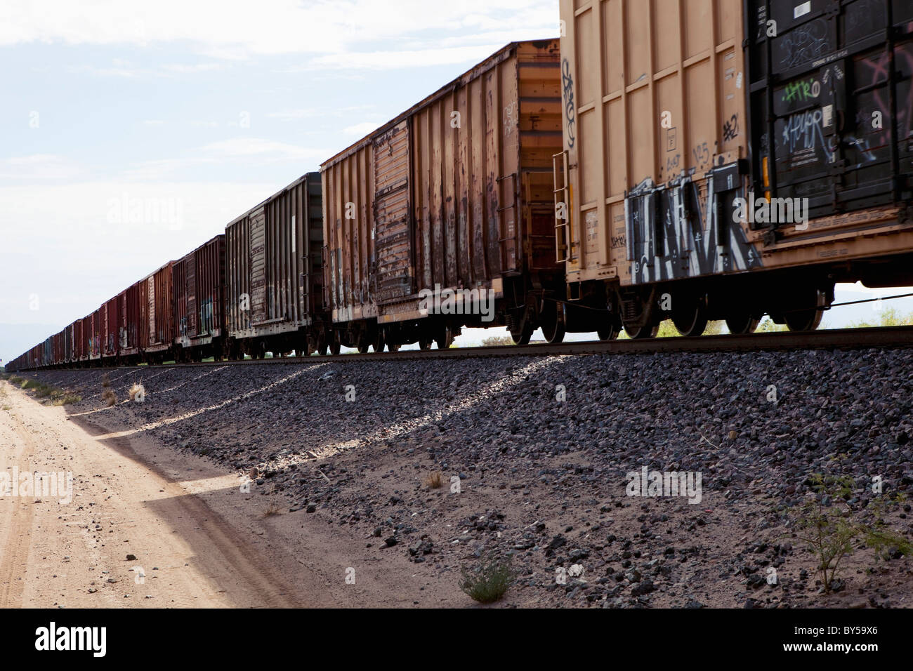 Freight train - Stock Image