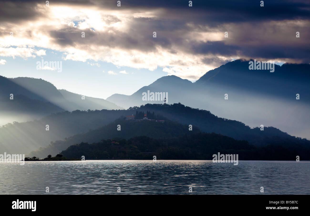 Sun moon lake in Taiwan - Stock Image