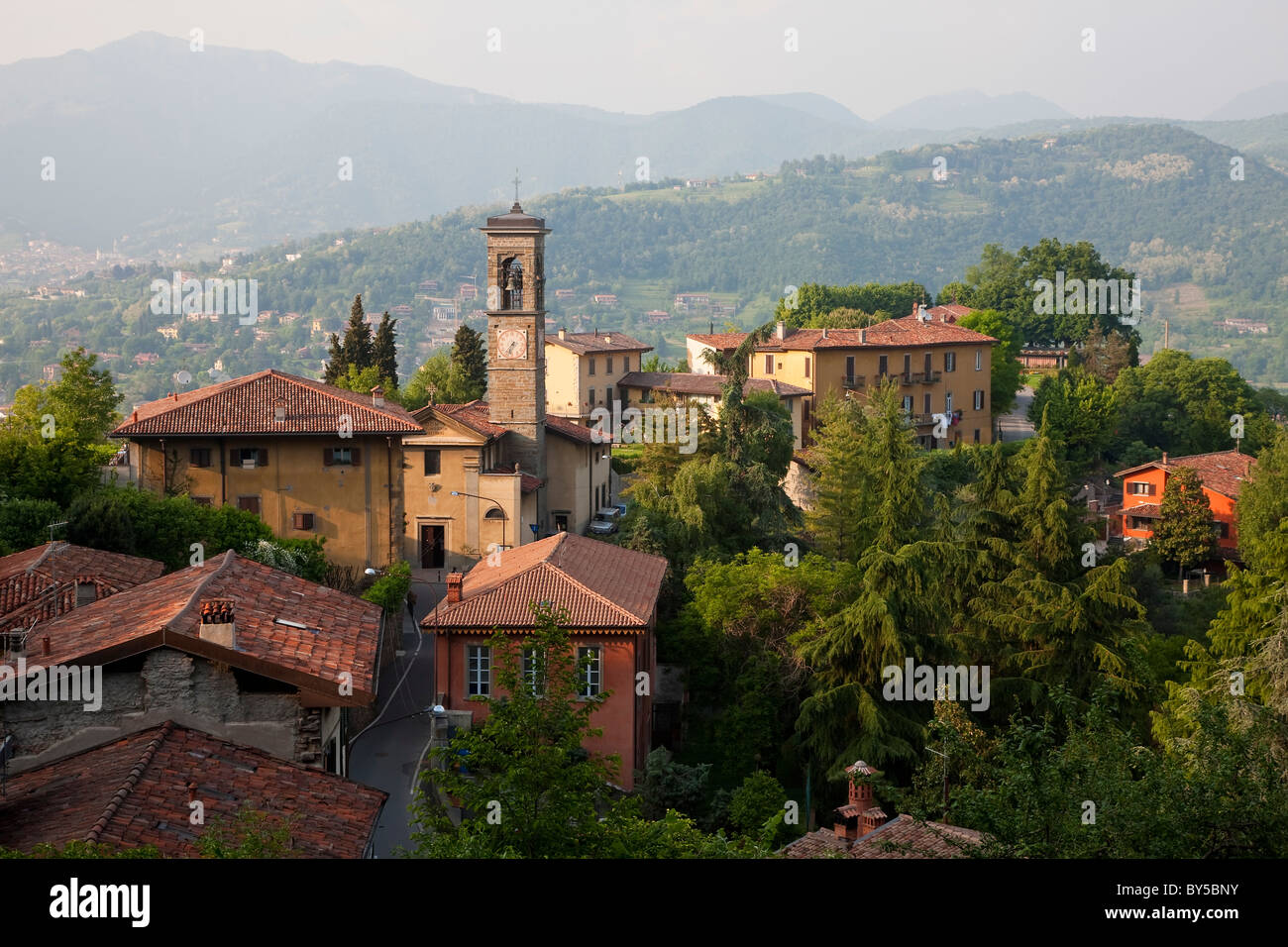 View over Bergamo, Lombardy, Italy Stock Photo