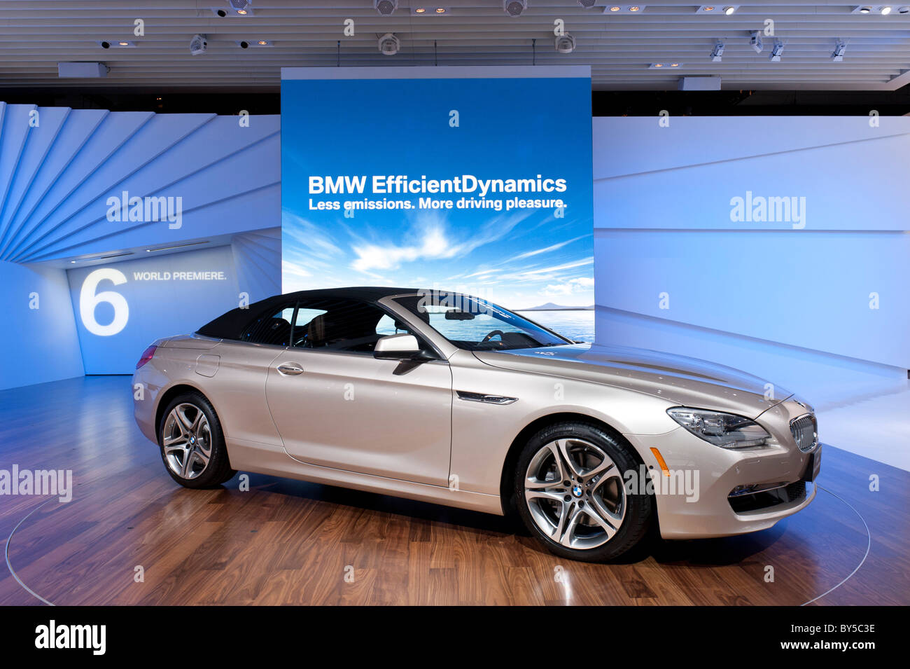 BMW 650i convertible at the 2011 North American International Auto Show in Detroit - Stock Image