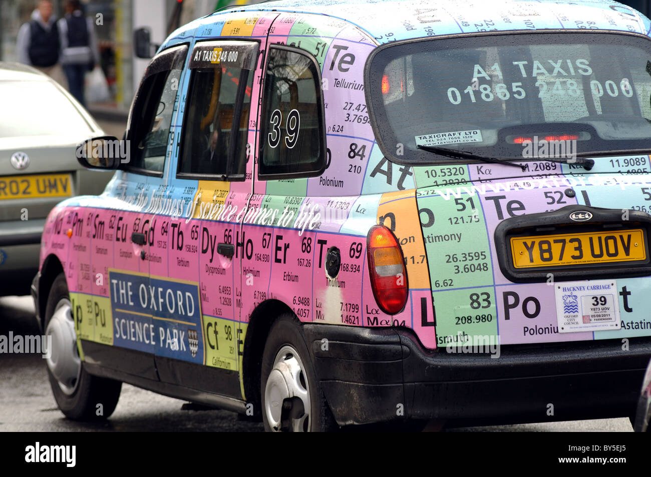 Taxi with periodic table livery oxford uk stock photo 33927325 taxi with periodic table livery oxford uk urtaz