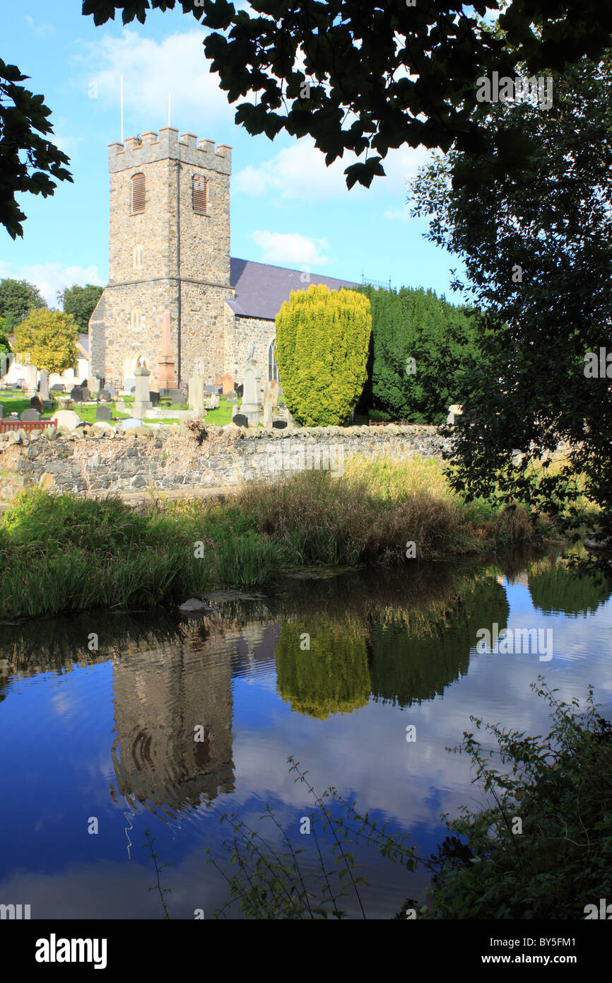 Dromore Cathedral by the River Lagan in Dromore, County Down, Northern Ireland - Stock Image