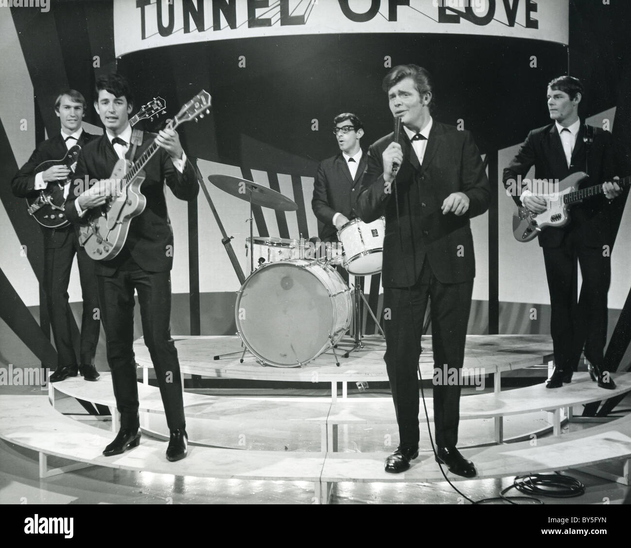 MIKE SHANNON  AND THE STRANGERS UK pop group in May 1964. Photo Tony Gale - Stock Image