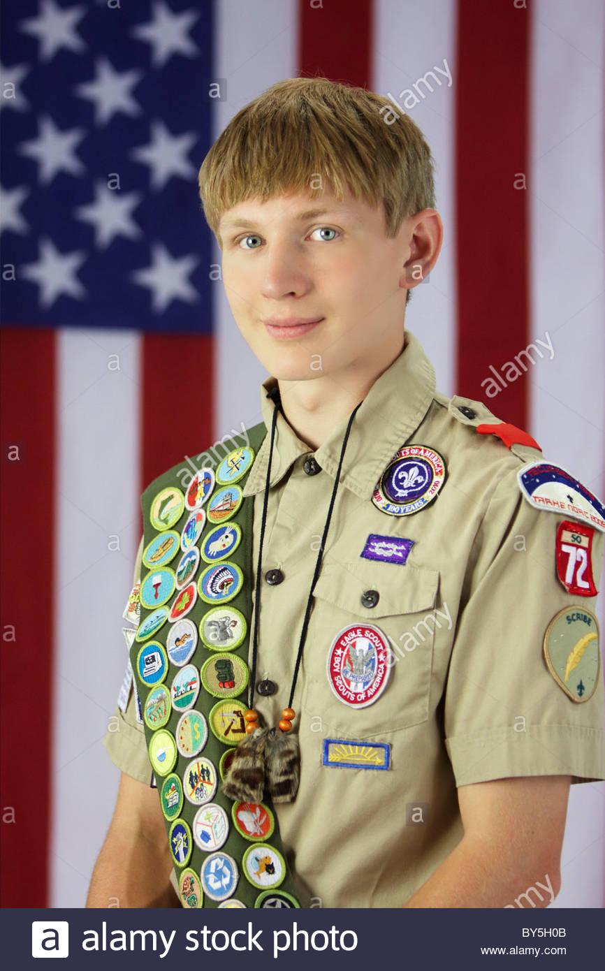 Boy Scout Uniform Stock Photos & Boy Scout Uniform Stock