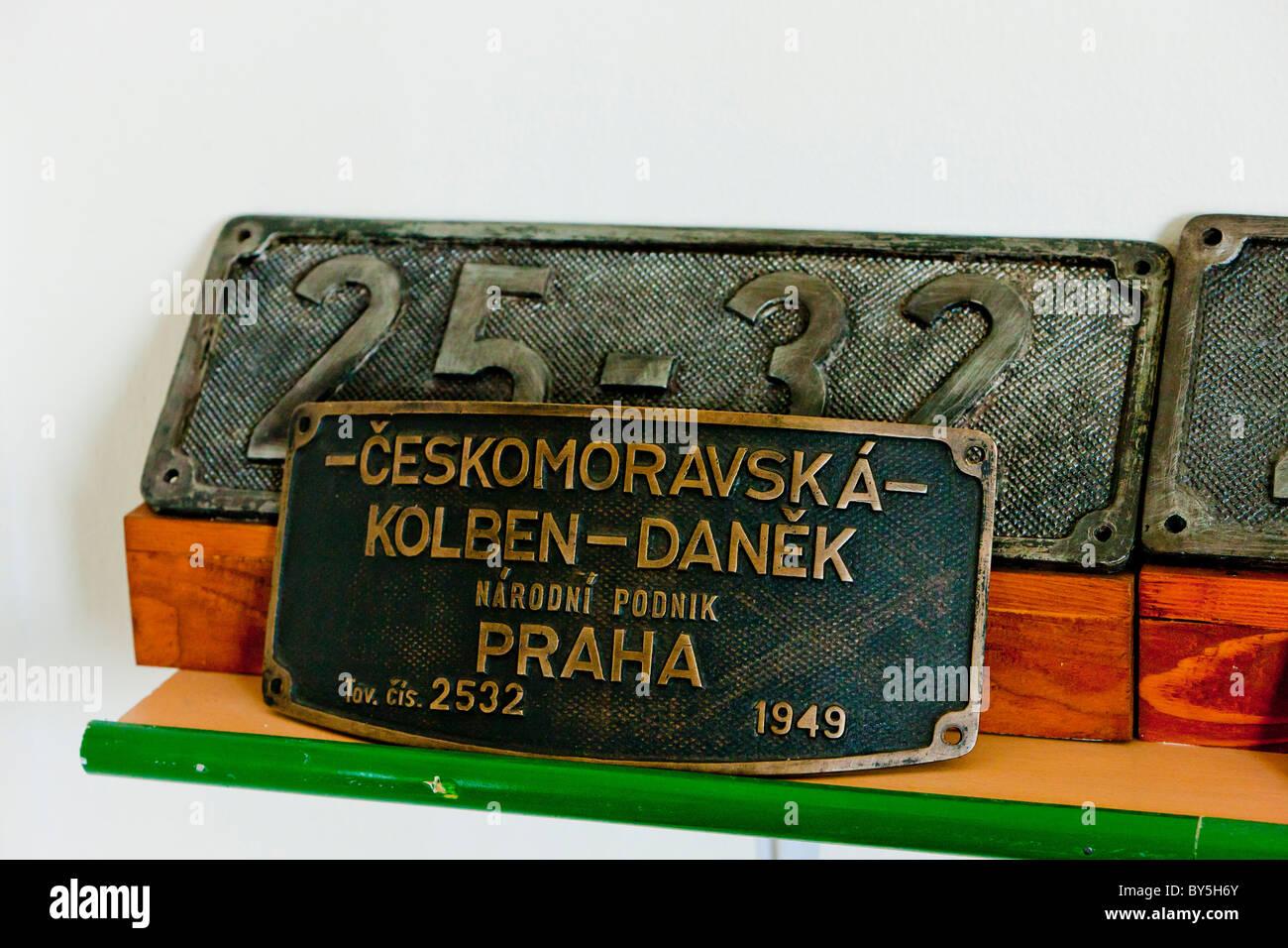 sign of locomotive, Banovici, Bosnia and Hercegovina Stock Photo