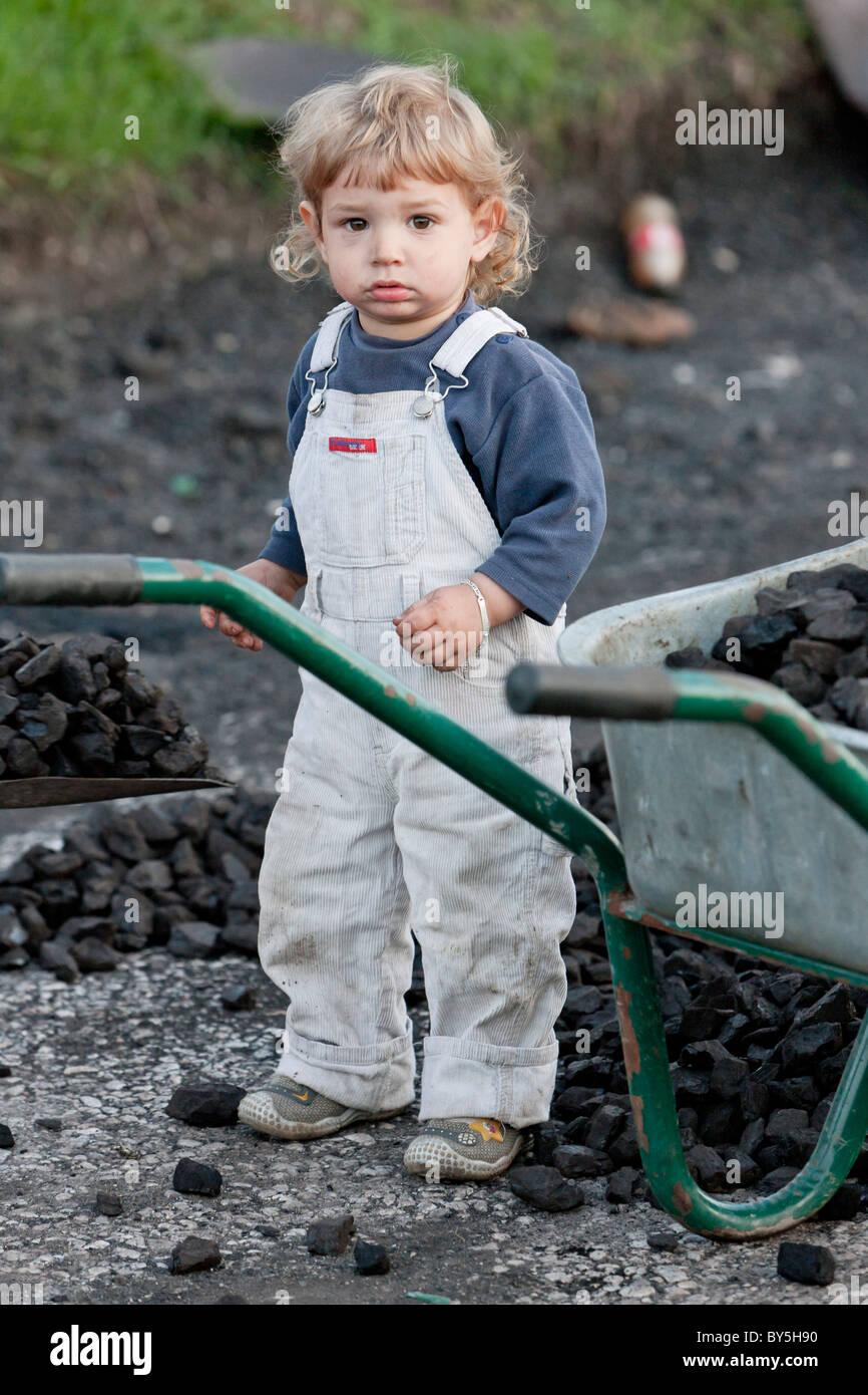standing toddler, Bosnia and Hercegovina - Stock Image