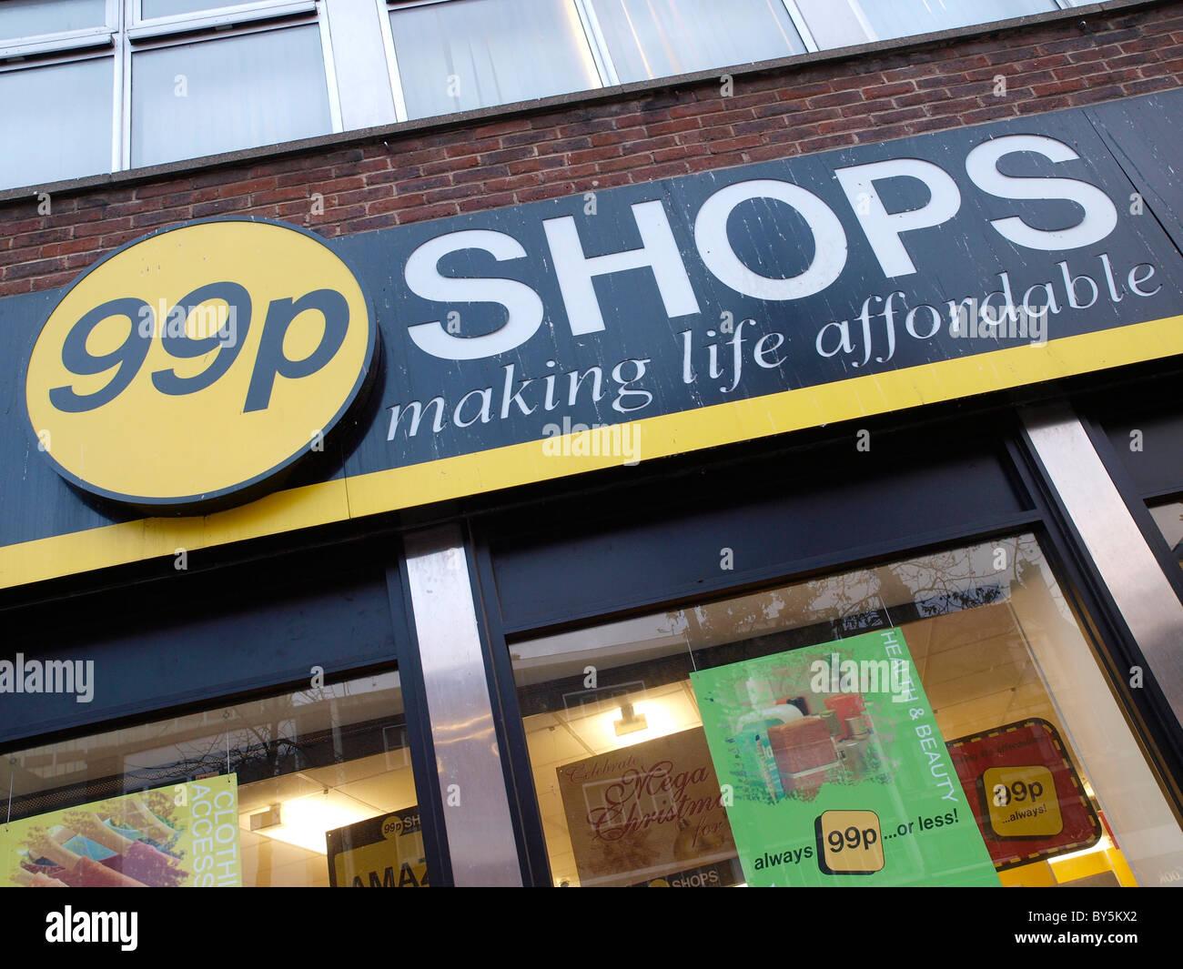 99p Shop in Lewisham London England - Stock Image