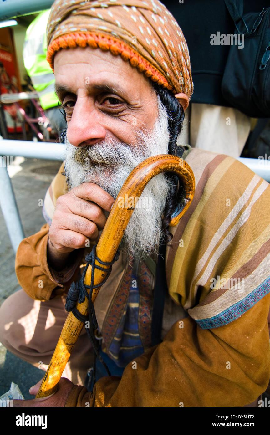 Portrait of a Yemeni Jew in Israel. - Stock Image