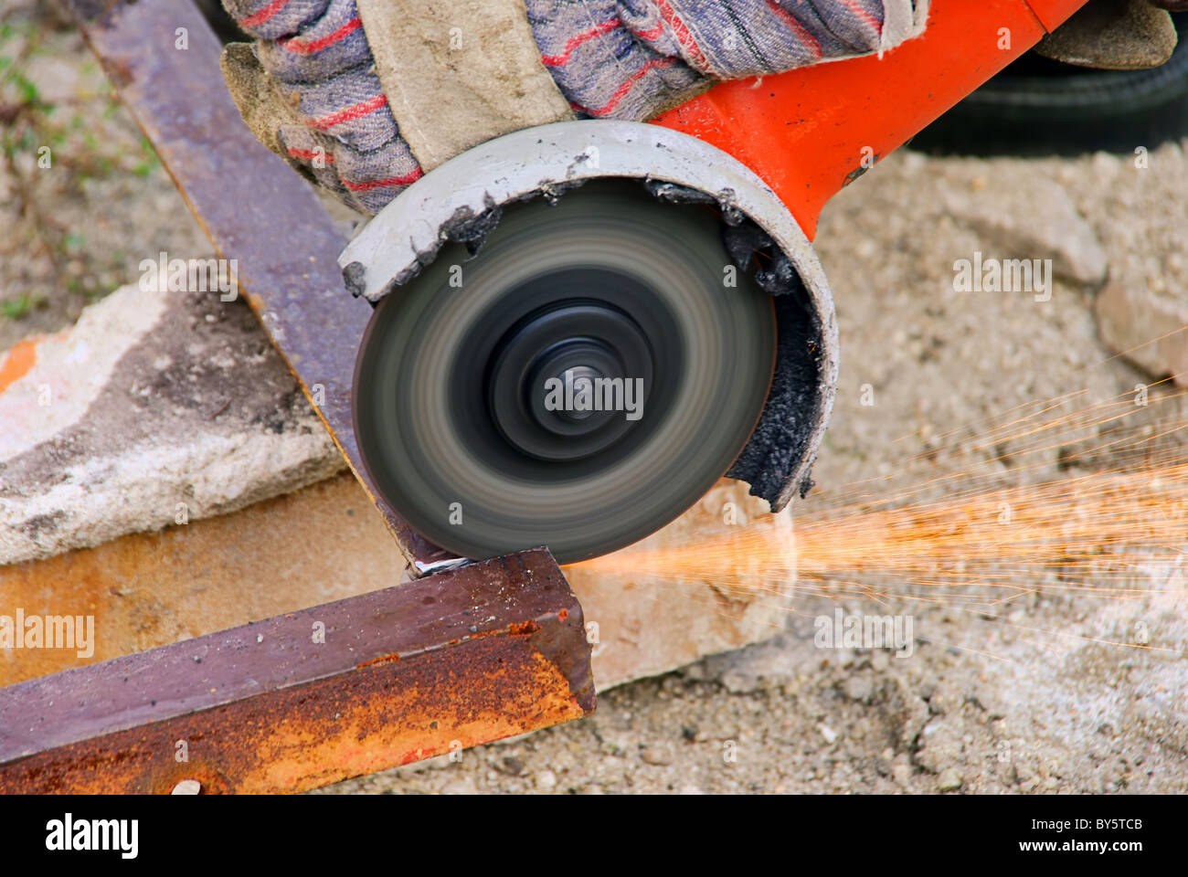 Winkelschleifer - angle grinder 07 - Stock Image
