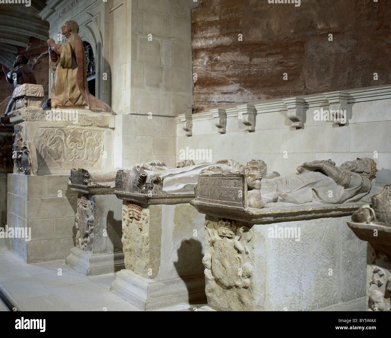 Monastery of Santa María La Real.  Royal Pantheon. First, the tomb of King Bermudo III of Leon. Najera. La - Stock Image