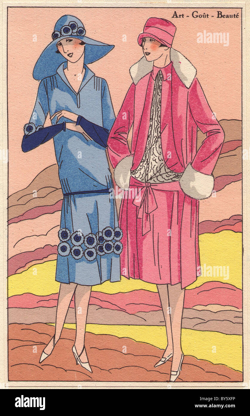 1920s women's fashion from AGB. - Stock Image