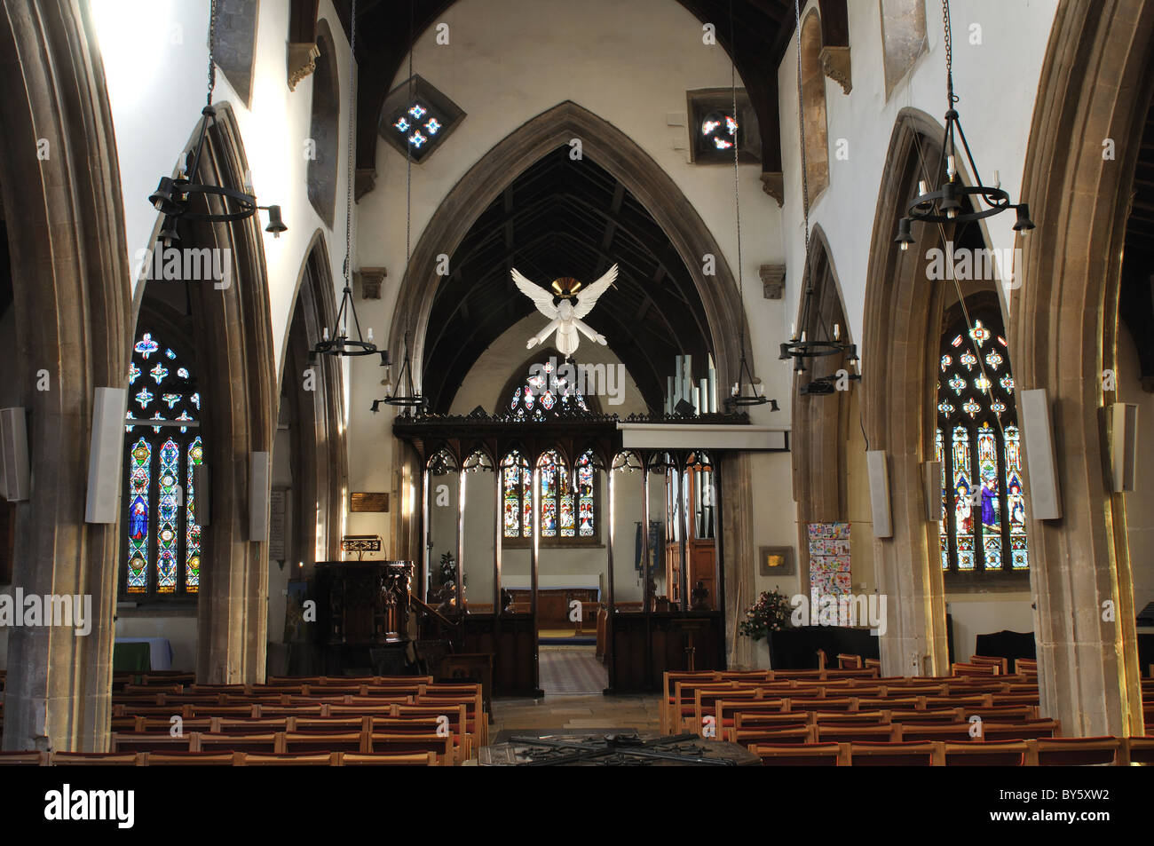 St. Wilfrid`s Church, Kibworth, Leicestershire, England, UK - Stock Image
