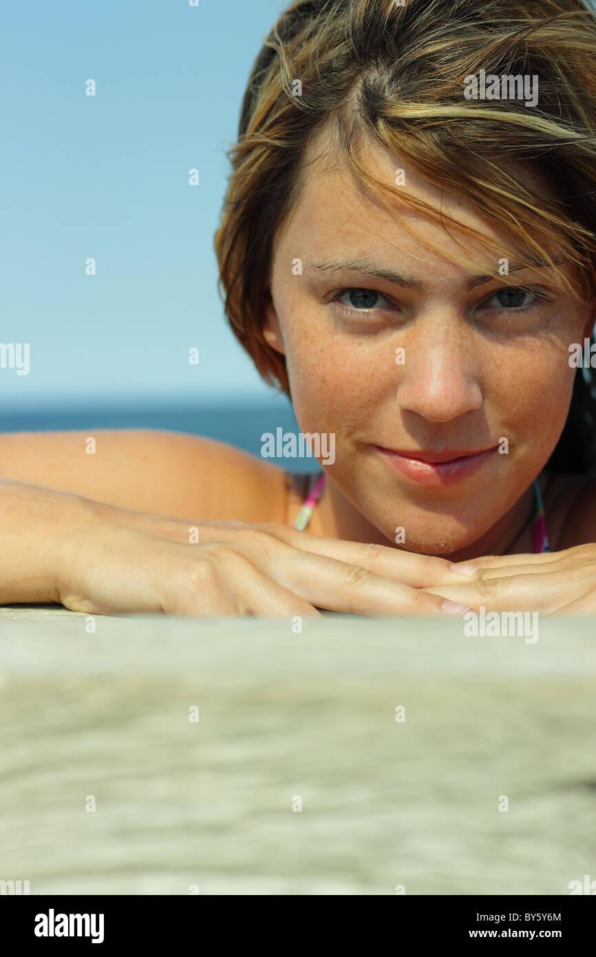 Summer portrait - Stock Image