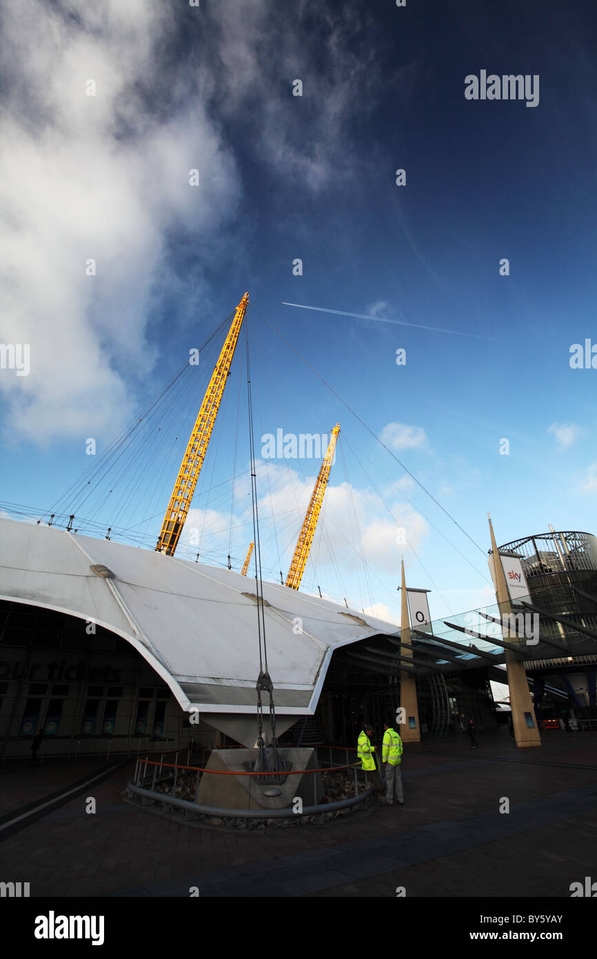 O2, the dome. Docklands. London - Stock Image