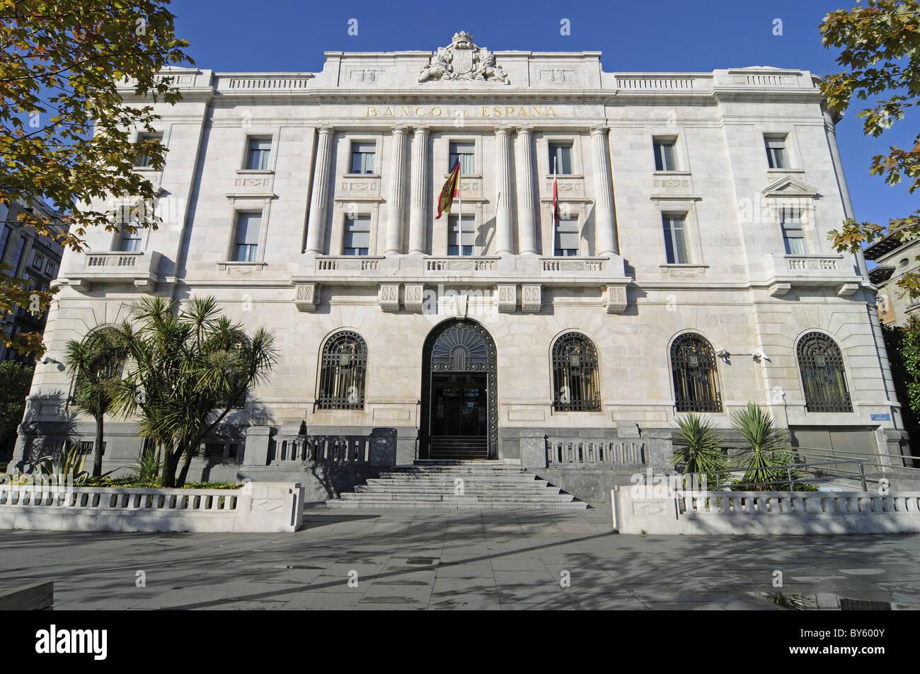 Banco de Espania in Cantabria Spain - Stock Image