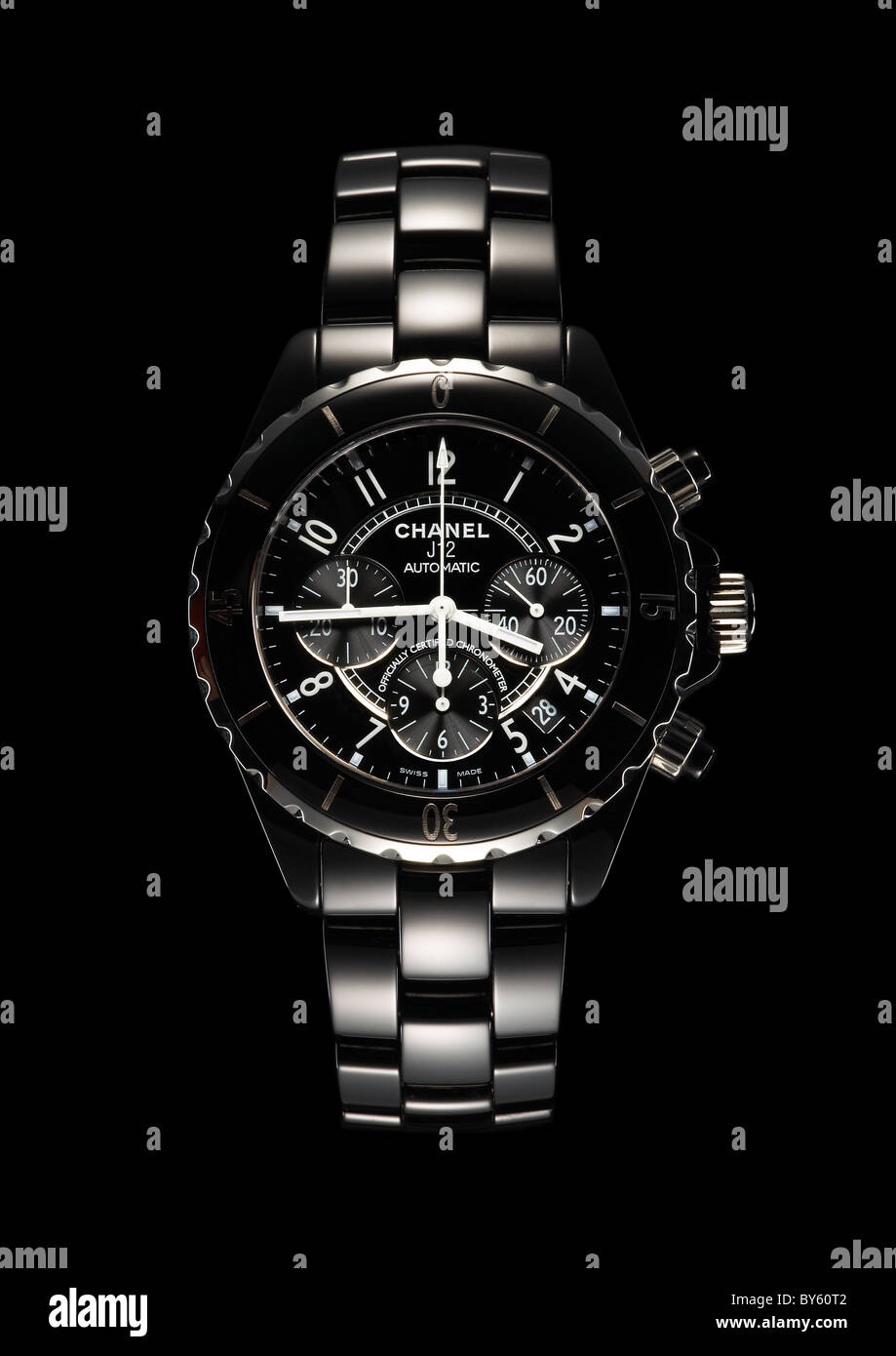 Chanel designer watch time piece - Stock Image