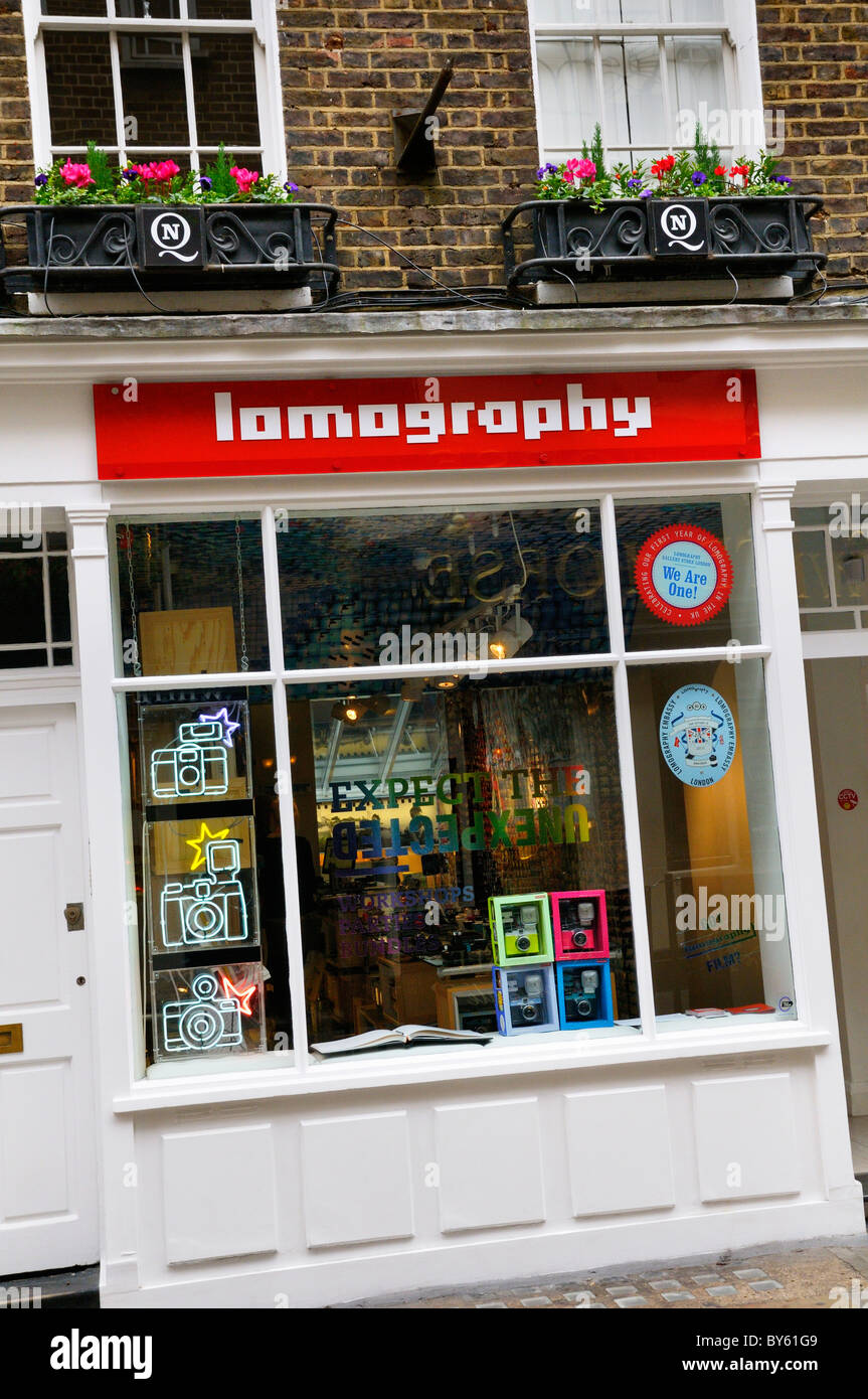 Lomography Gallery Store, Carnaby Street, London, UK. (A specialist shop dedicated to experimental analogue photography.) - Stock Image