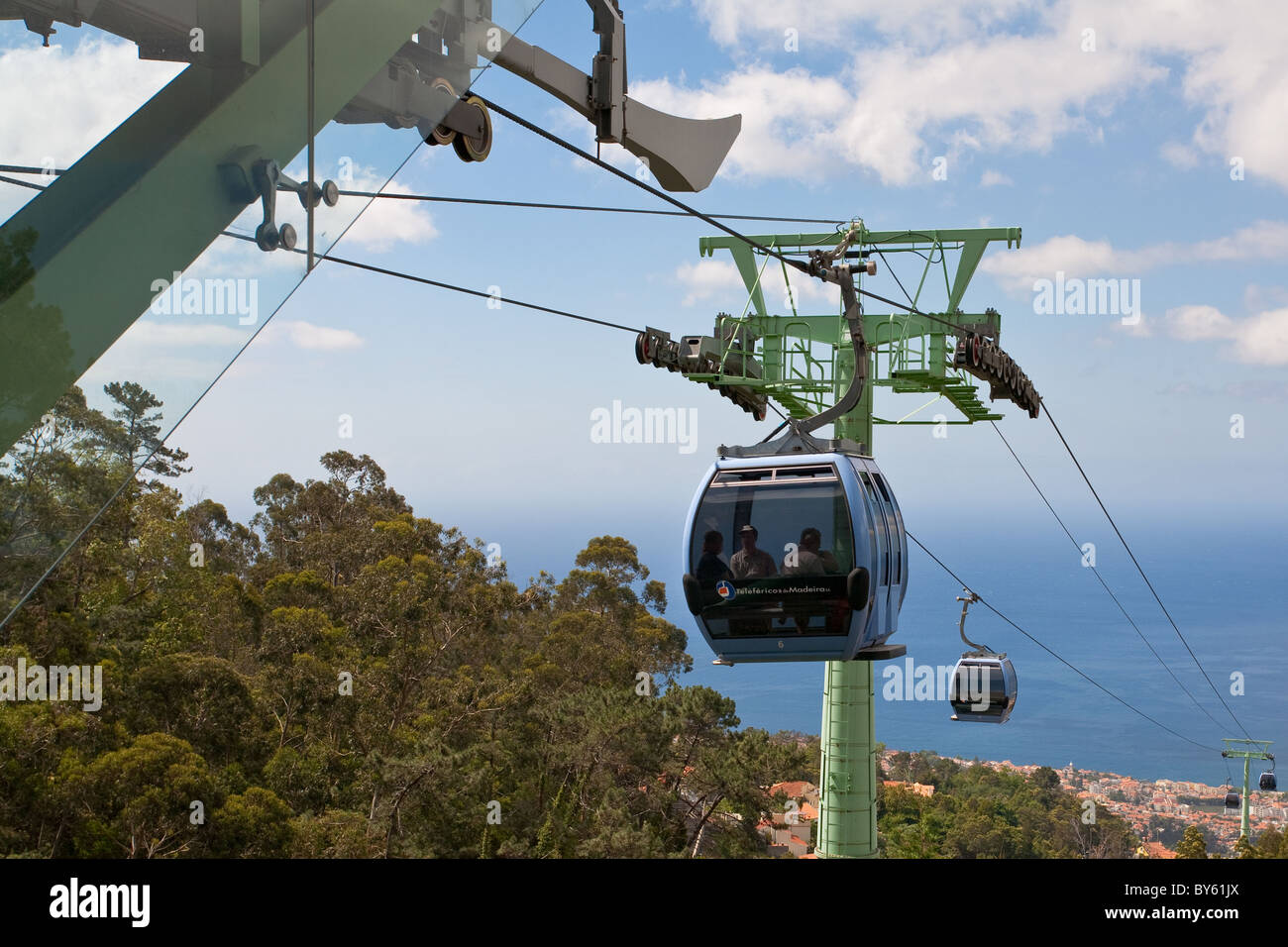 Cable car mechanisms Funchal Madeira Stock Photo