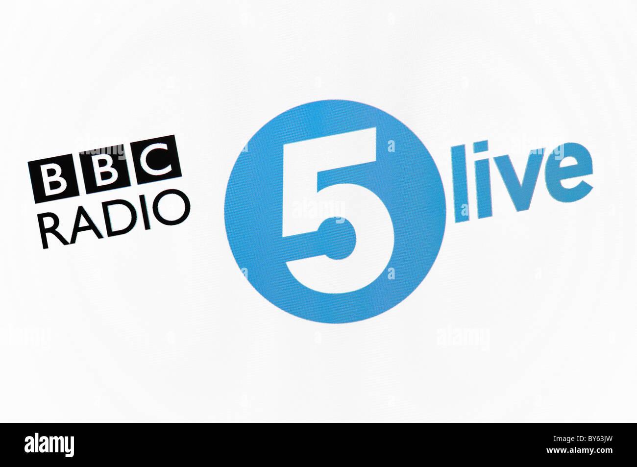 BBC Radio 5 Live Website Screenshot - Stock Image