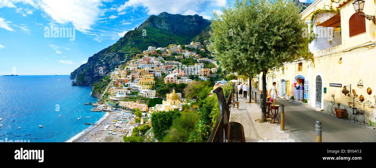 Positano town - Amalfi caost - Italy Stock Photo
